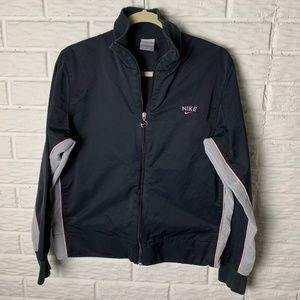 Nike Jacket Size XL Black White Pink Zip Up